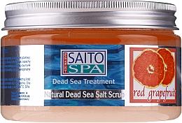Fragrances, Perfumes, Cosmetics Salt Body Scrub 'Red Grapefruit' - Saito Spa Salt Body Scrub Red Grapefruit