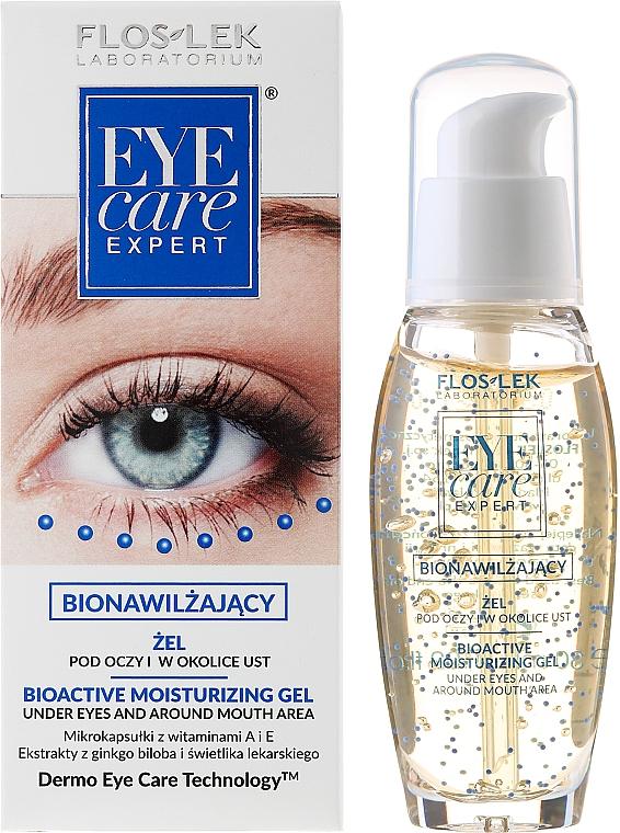 Bioactive Moisturizing Eye Gel - Floslek Eye Care Bioactive Moisturizing Gel Under Eyes And Around Mouth Area