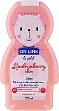 Fragrances, Perfumes, Cosmetics Body and Hair Cleanser 'Candies' - On Line Le Petit Candy 3 In 1 Hair Body Face Wash
