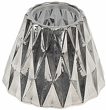 Fragrances, Perfumes, Cosmetics Medium Candle Shade - WoodWick Geometric Silver Shade