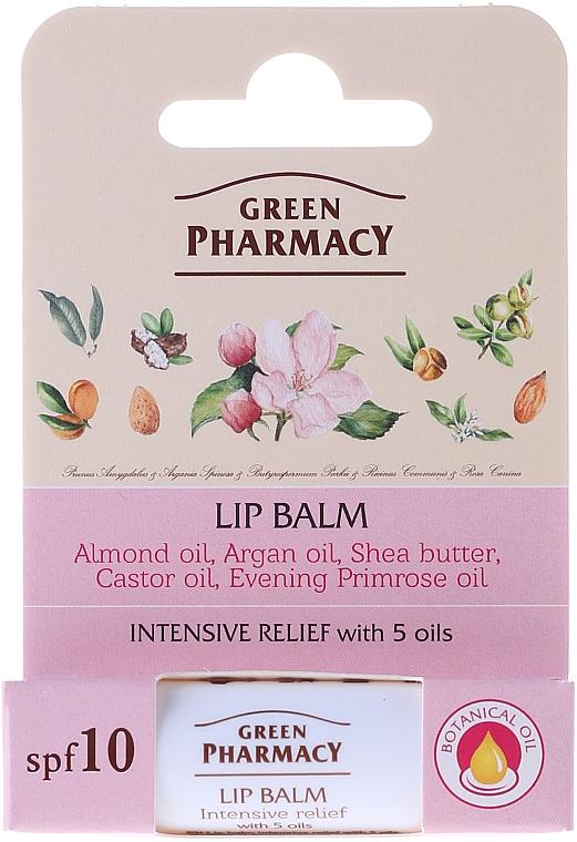Lip Balm with 5 Oils - Green Pharmacy Lip Balm With 5 Oils SPF 10