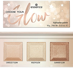 Fragrances, Perfumes, Cosmetics Highlighter Palette - Essence Choose Your Glow! Highlighter Palette