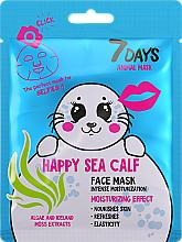 "Fragrances, Perfumes, Cosmetics Face Mask ""Happy Sea Calf"" - 7 Days Animal Happt Sea Calf"