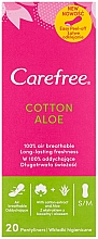 Fragrances, Perfumes, Cosmetics Hygienic Daily Pads with Aloe Extract, 20 pcs - Carefree Cotton Aloe
