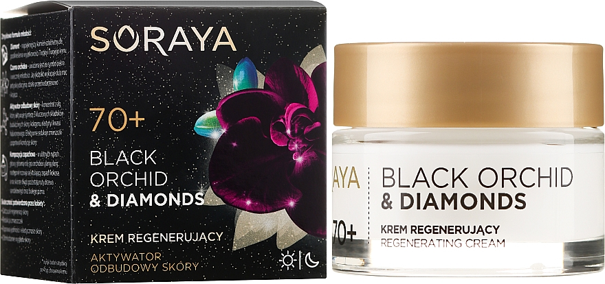 Regenerating Facial Cream - Soraya Black Orchid & Diamonds 70+ Regenerating Cream — photo N1