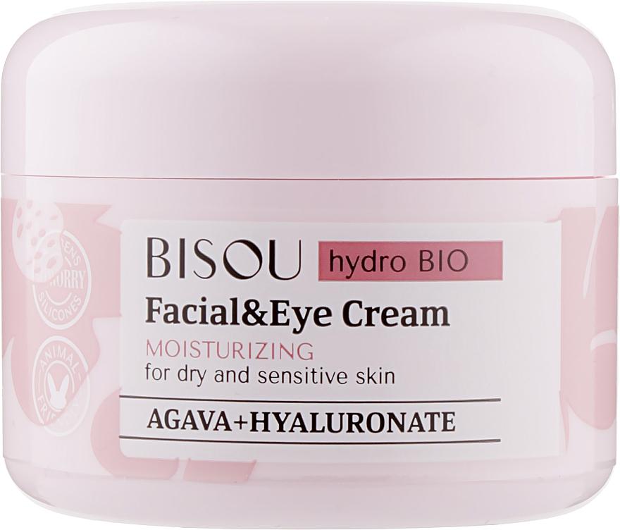Moisturizing Facial & Eye Cream - Bisou Hydro Bio Facial Eye Cream