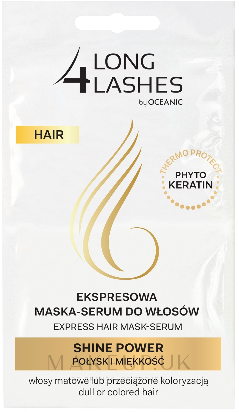 Hair Serum Mask - Long4Lashes Hair Shine Power — photo 2 x 6 ml
