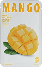"Fragrances, Perfumes, Cosmetics Skin Glow Facial Sheet Mask ""Mango"" - The Iceland Mango Mask"