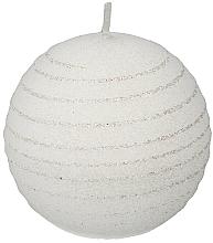 "Fragrances, Perfumes, Cosmetics Decorative Candle ""White Ball"", 10cm - Artman Andalo"