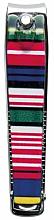 Fragrances, Perfumes, Cosmetics Nail Clipper, multi-colored stripes - Titania