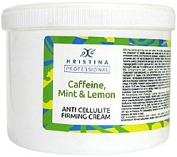 Fragrances, Perfumes, Cosmetics Anti-Cellulite Caffeine, Mint & Lemon Cream - Hristina Professional Caffeine, Mint & Lemon Anti Cellulite Firming Cream