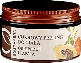 "Fragrances, Perfumes, Cosmetics Body Sugar Peeling ""Grapefruit and Papaya"" - Bosphaera"