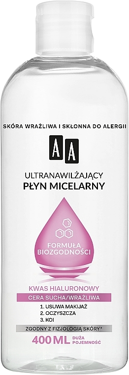 Ultra Moisturizing Micellar Water for Dry & Sensitive Skin - AA Ultra Moisturizing Micellar Water