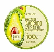Fragrances, Perfumes, Cosmetics Face Gel - Lebelage Moisture Avocado 100% Soothing Gel