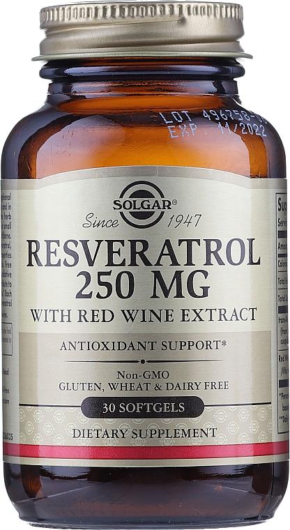 """Dietary Supplement """"Resveratrol"""" - Solgar Resveratrol 250 Mg"""