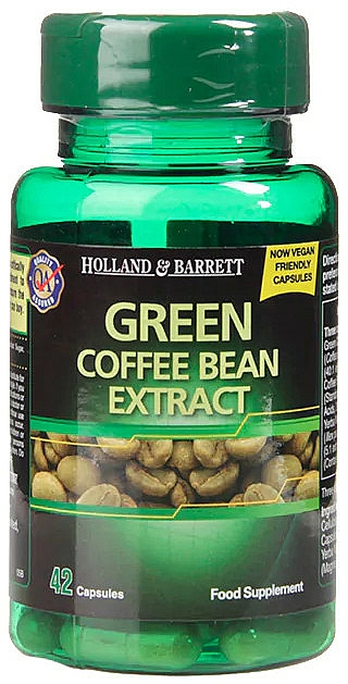 "Food Supplement ""Green Coffee Bean Extract"" - Holland & Barrett Green Coffee Bean Extract — photo N1"