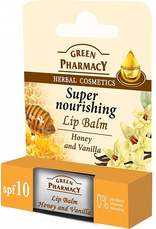 """Lip Balm """"Honey and Vanilla"""" - Green Pharmacy Lip Balm With Honey And Vanilla"""