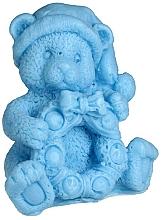 "Fragrances, Perfumes, Cosmetics Natural Soap ""Teddy Bear with Wreath"", Blue - LaQ"