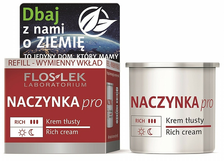 Face Cream - Floslek Dilated Capillaries Rich Cream Refill (refill)