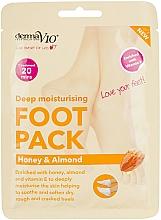 Fragrances, Perfumes, Cosmetics Repair Foot Sock-Mask - Derma V10 Peel Foot Pack Honey & Almond Socks