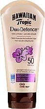 Fragrances, Perfumes, Cosmetics Sun Lotion for Body - Hawaiian Tropic Duo Defence Sun Lotion SPF50