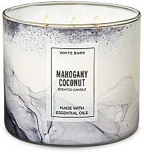 Fragrances, Perfumes, Cosmetics Bath and Body Works Mahogany Coconut - Scented Candle