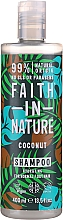 Fragrances, Perfumes, Cosmetics Shampoo for Normal and Dry Hair 'Coconut' - Faith In Nature Coconut Shampoo