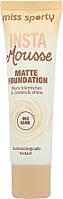 Fragrances, Perfumes, Cosmetics Mattifying Foundation - Miss Sporty Insta Mousse Matte Foundation