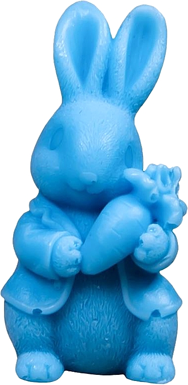 """Natural Soap """"Rabbit with Carrot"""", blue - LaQ Happy Soaps"""