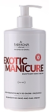 Fragrances, Perfumes, Cosmetics Regenerating Hand and Nail Cream - Farmona Exotic Manicure SPA