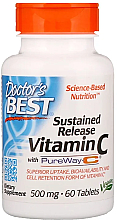 Fragrances, Perfumes, Cosmetics Sustained Release Vitamin C with PureWay-C, 500mg, tablets - Doctor's Best