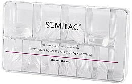 Fragrances, Perfumes, Cosmetics Nail Tips - Semilac Tips Box Klar