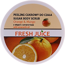 Fragrances, Perfumes, Cosmetics Sugar Body Scrub - Fresh Juice Orange and Mango