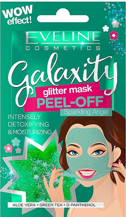 Moisturizing Facial Sheet Mask - Eveline Cosmetics Galaxity Glitter Mask Peel-off