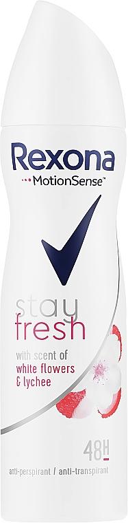 "Deodorant Spray ""White Flowers & Lychee"" - Rexona Stay Fresh White Flowers & Lychee Spray"