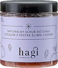 Fragrances, Perfumes, Cosmetics Natural Scrub with Plum and Jojoba Oils - Hagi Scrub
