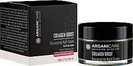 Fragrances, Perfumes, Cosmetics Rejuvenating Night Face Cream - Arganicare Collagen Boost Rejuvenating Night Cream