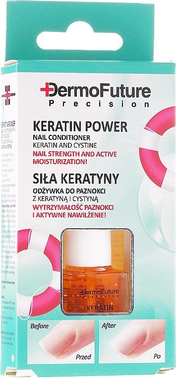 "Nail Conditioner ""Keratin Power"" - Dermofuture Keratin Power Nail Conditioner Keratin&Cystine"