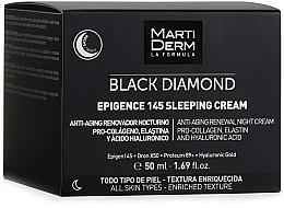Fragrances, Perfumes, Cosmetics Facial Night Cream - MartiDerm Black Diamond Epigence 145 Sleeping Cream