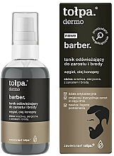 Fragrances, Perfumes, Cosmetics Refreshing Face and Beard Tonic - Tolpa Dermo Men Barber Tonik