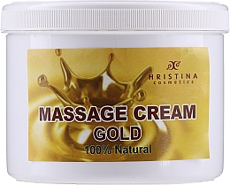 Fragrances, Perfumes, Cosmetics Massage Gold Face & Body Cream - Hristina Cosmetics Gold Massage Cream
