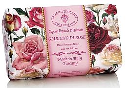 """Fragrances, Perfumes, Cosmetics Natural Soap """"Rose Garden"""" - Saponificio Artigianale Fiorentino Rose Garden Scented Soap"""