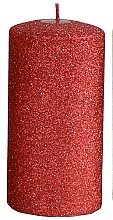 Fragrances, Perfumes, Cosmetics Decorative Candle, red, 7x18 cm - Artman Glamour