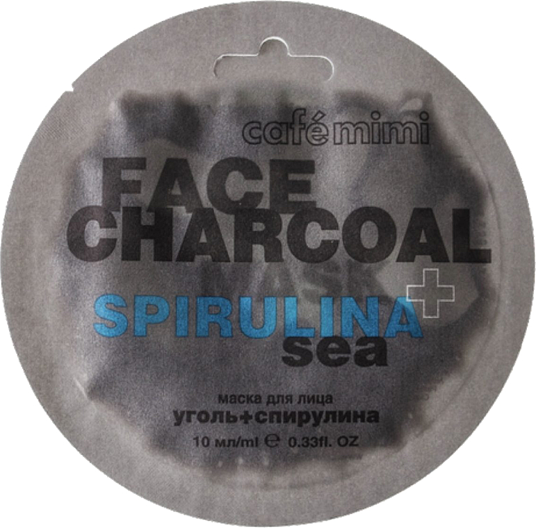 "Face Mask ""Charcoal & Spirulina Sea"" - Cafe Mimi Charkoal & Spirulina Sea Face Mask"