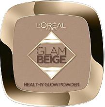 Fragrances, Perfumes, Cosmetics Face Powder - L'Oreal Paris Glam Beige Healthy Glow Powder