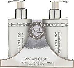 Fragrances, Perfumes, Cosmetics Set - Vivian Gray White Crystals Set (cr/soap/250ml + h/lot/250ml)