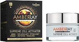 "Fragrances, Perfumes, Cosmetics Amber Night Face Cream ""Cell Activator"" - Farmona Amberray Night Cream"