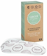 Fragrances, Perfumes, Cosmetics Elactic Daily Liners, 30 pcs - Ginger Organic
