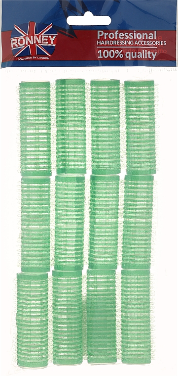 Velcro Rollers 20/63, green - Ronney Professional Velcro Roller