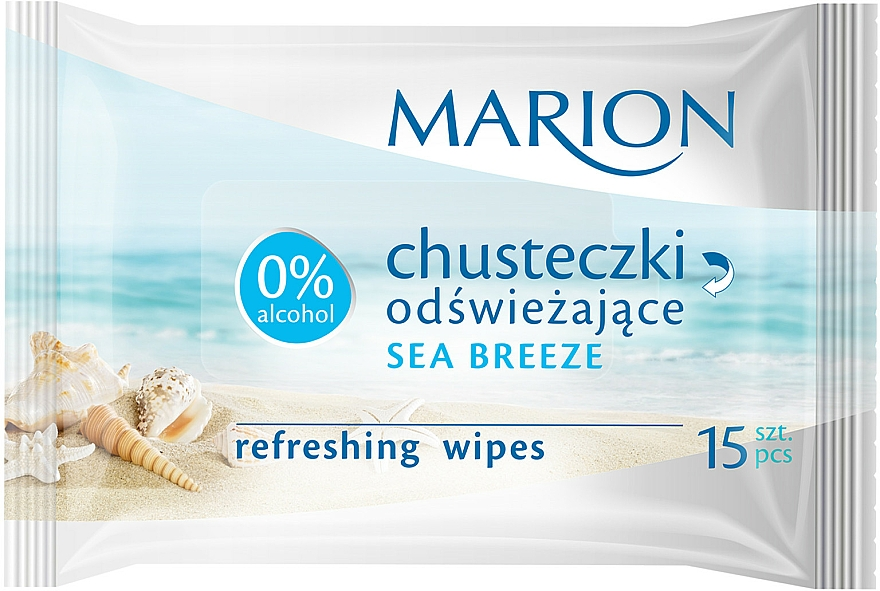"Refreshing Wipes ""Sea Breeze"", 15 pcs - Marion"